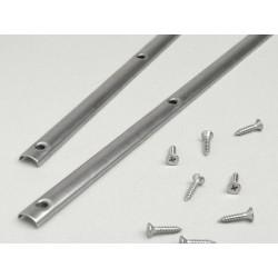 Guías de sujeción aluminio alfombrilla central, Vespa CL, DS, DN