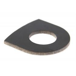 Disco soporte distanciador eje basculante Vespa, para horquilla delantera, para eje de 12mm.