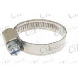 Abrazadera metálica inoxidable ancho 9mm, diámetro 15-25mm