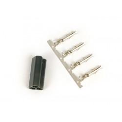 Terminal macho asimétrico 3 clavijas para cables eléctricos, Vespa, Piaggio, Gilera
