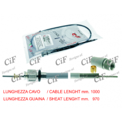 Cable Cuentakilómetros Vespa 125/150 rueda 8 pulgadas, 150s segunda serie