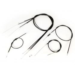 Kit Cables y Fundas con interior de Teflón Vespa IRIS, PX DISCO (todos los modelos), negro