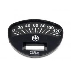 Esfera cuentakilómetros Original Piaggio, esfera negra con números blancos, Vespa Et3, CL, DS, Rally