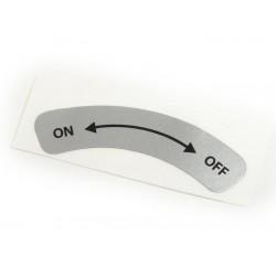 Adhesivo para encima de la varilla grifo de gasolina - On-Off - Vespa PK XL, FL