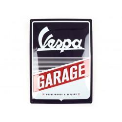 """Chapa de publicidad Vespa """"Garage"""", 15x20cm"""