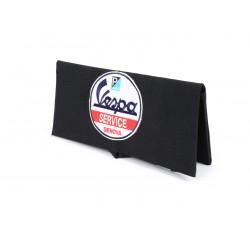 Bolsa de herramientas en negro Vespa Service Genova, no incluye herramientas