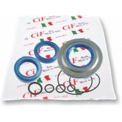 Kit Retenes Corteco Motor Vespa T5, TX, PX Disco, modelos que montan el retén rueda trasera por dentro del cárter