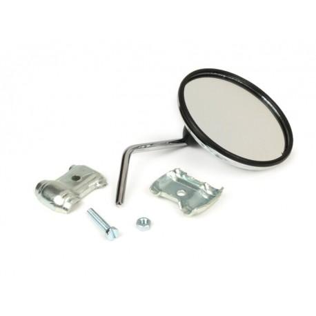 Espejo retrovisor bordón derecho cromado, Vespa y Lambretta, diámetro 105mm