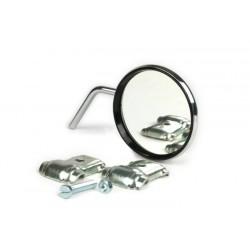Espejo retrovisor bordón derecho cromado, Vespa y Lambretta, diámetro 80mm