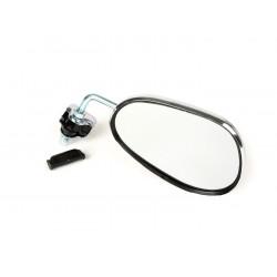 Espejo retrovisor bordón izquierdo cromado, 130x85mm (forma trapezoidal), Vespa y Lambretta