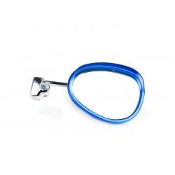 Espejo retrovisor bordón derecho blanco y azul, 95x70mm, Vespa y Lambretta