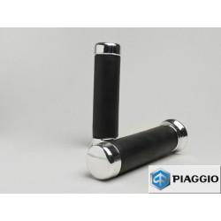 Puños negros Original Piaggio, Vespa PX Disco desde 2001 a 2010. También válido para Vespa CL, DS, DN, IRIS, TX, T5