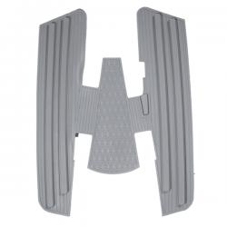 Alfombra goma completa gris, Vespa 150s, 150 GS, 150 Sprint, Vespa 125 año 60 al 65