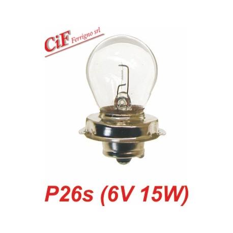 Lámpara P26s 6V 15W