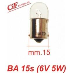 Bombilla BA 15s 6V 5W Luz de Posición Vespa Primavera Vespa 150/160