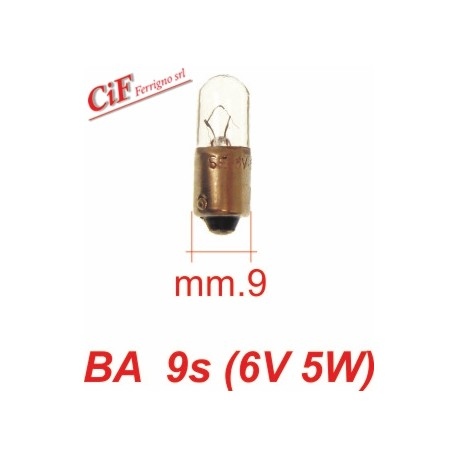 Bombilla BA 9s 6V 5W Luz de Posicion Delantera y Trasera