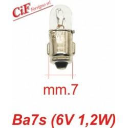 Bombilla BA 7s 6V-1,2W Luz Cabezón Vespa PX PE Todos los modelos a 6V