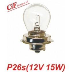 Lámpara P26s 12V 15W