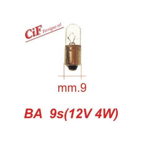 Bombilla BA 9s 12V 4W Luz Posicion delantera y trasera Vespa 125 T5