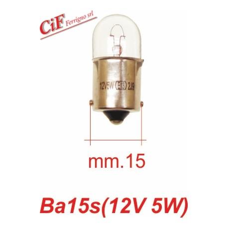 Bombilla BA 15s 12V 5W Luz Posición delantera y trasera