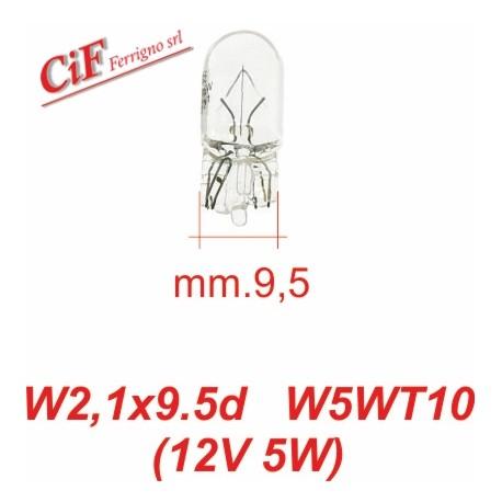 Bombilla 12V-5W W2,1x9,5d W5WT10- Posición Vespa PX desde 2006 Primavera y Sprint Moderna