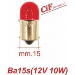 """Bombilla BA 15s 12V-10W """"Rojo"""" Luz Stop Vespa PX PE - PX PE Iris"""