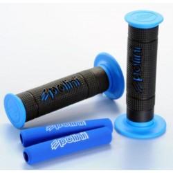 Puños POLINI Negro y detalles en azul