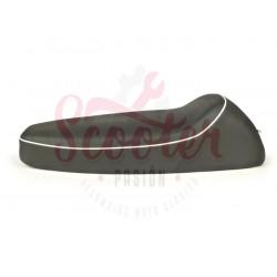 Asiento negro con borde blanco ANCILLOTTI Classic Vespa CL, DS, DN, IRIS, PX Disco