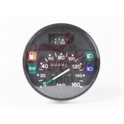 Cuentakilómetros Vespa IRIS, PK XL, PX Disco (primera serie). Cerquillo negro y escala 160 km/h.