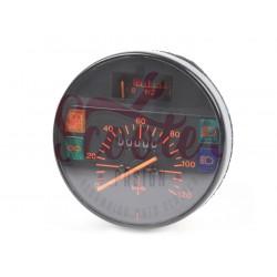 Cuentakilómetros Vespa PK XL, IRIS, PX Disco (primera serie). Dígitos naranja y escala 120 km/h.