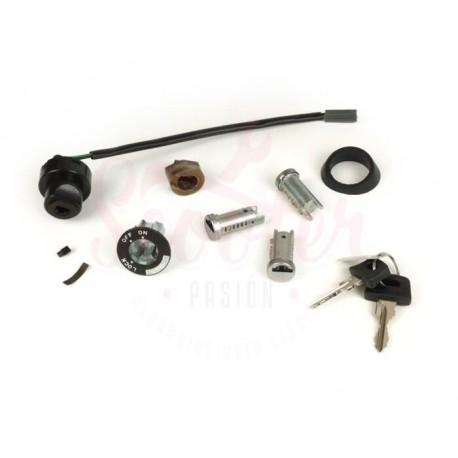 Kit cerradura dirección/cerradura contacto Vespa PKS, PK XL, PX Disco, IRIS, TX, T5