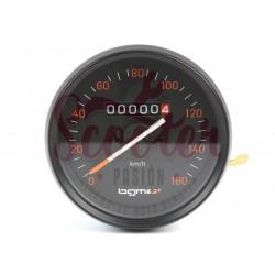 Cuentakilómetros BGM PRO Vespa DN. Cerquillo negro y escala 160 km/h.