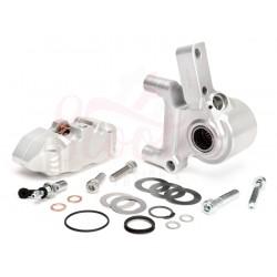 Kit pinza de freno delantero plata BGM PRO con soporte de pinza CNC 4 pistones, Vespa PX Disco