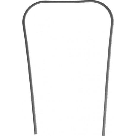 Bordón escudo en plástico negro, Vespa PX Disco, IRIS, TX, T5, CL, DS, DN