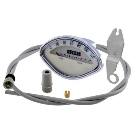 Cuentakilometros Vespa 150/160 sprint, incluye cable y placa sujección