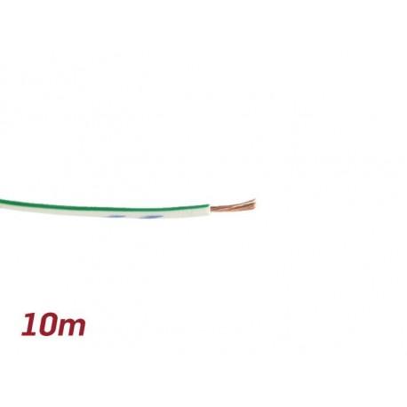 Cable eléctrico UNIVERSAL 0,85mm² 10m blanca, verde