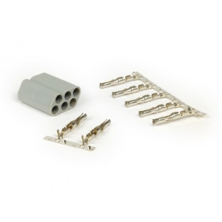 Terminal macho 6 clavijas para cables eléctricos, Vespa, Piaggio, Gilera