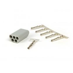 Macho para mazo de cables BGM PRO, 5 clavijas- Vespa, Piaggio, Gilera