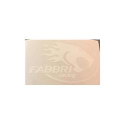 Pegatina Adhesivo FABBRI Racing 12X7 cm blanco