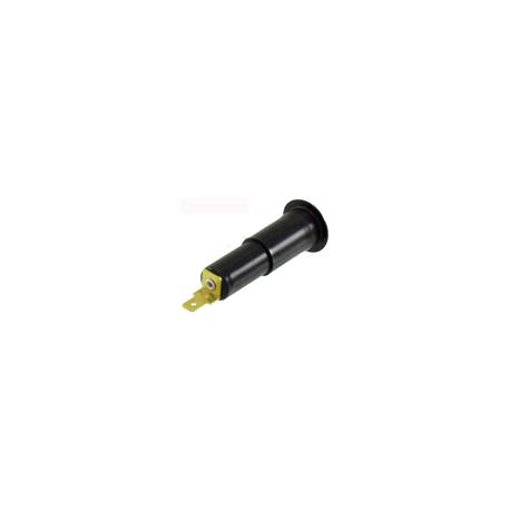 Conector Intermitente Cófano Vespa PX Disco, T5, TX, IRIS. 12,8mm, sin cable, conector ancho 4,3mm