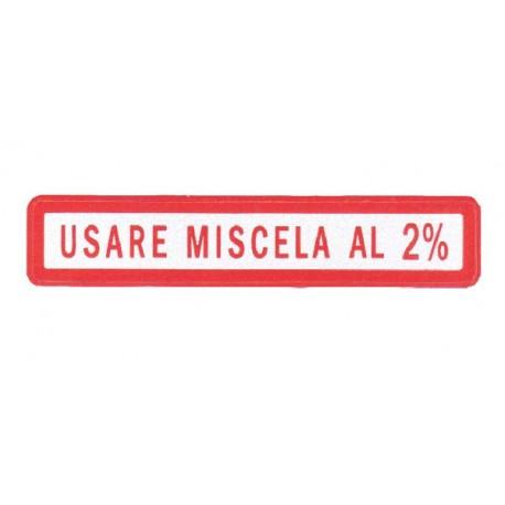 Pegatina Pequeña Mezcla 2% Rojo