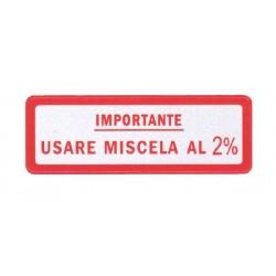 Pegatina Mezcla 2% Rojo