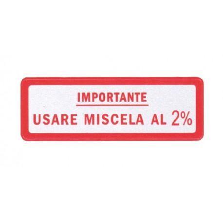 Pegatina Importante Mezcla 2% Rojo