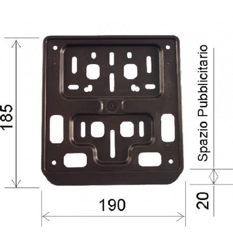 Soporte Matrícula Europea 185x190mm