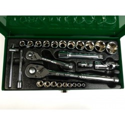 Caja de herramientas llave de tubo Toptul, 27 Piezas
