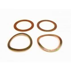 Kit Arandelas distanciadoras y elásticas para tubo mando gas/cambio 4 Piezas Vespa PX, T5, 150/160, Primavera, PKS, PK XL