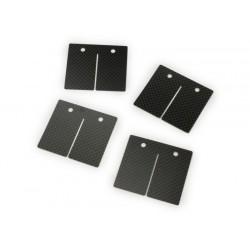 Láminas de carbono Malossi MHR VL17,Vespa Largeframe,Smallframe, Minarelli AM6, carbono (0.3,0.35,0.4mm)