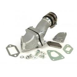 Colector de admisión para caja de láminas Malossi 136cc MHR aluminio, admisión al cilindro, Vespa Primavera,PK XL,