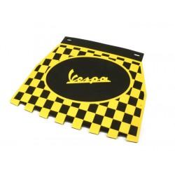 Faldón cuadros Vespa negro,amarillo